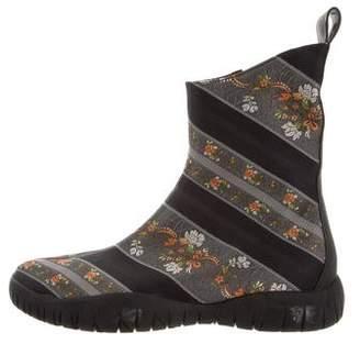 Maison Margiela Tabi Brocade Ankle Boots