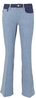 Sonia Rykiel Saint Germain Striped Crop Flare Jeans