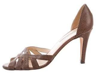 Oscar de la Renta Karung Cutout Sandals