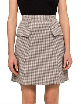 See by Chlo Cool Tailoring Check Mini Skirt