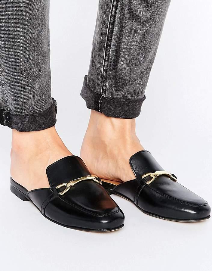 AsosASOS MOVIE Leather Mule Loafers