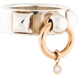 Hermes Diamond Collier de Chien Ring
