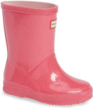 Hunter First Classic Starcloud Glitter Rain Boot