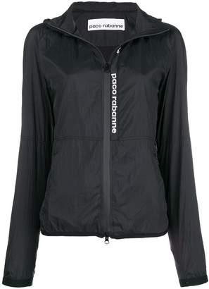 Paco Rabanne logo raincoat
