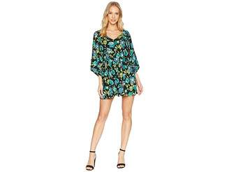 Romeo & Juliet Couture Floral Print V-Neck Romper Women's Jumpsuit & Rompers One Piece