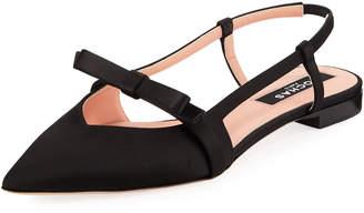 Rochas Satin Bow Ballet Flats