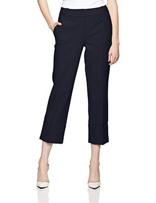 Reesa Rae Women's Smart Midwaist Folded Cuff Pants