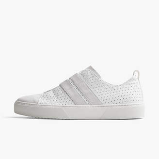 James Perse SOLSTICE RETRO PERFORATED LEATHER SNEAKER - WOMENS