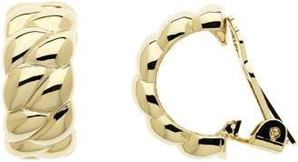 KOE Lilli & Gold Rope Twist Clip Half Hoop Earrings