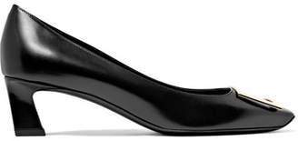 Roger Vivier Trompette Leather Pumps - Black