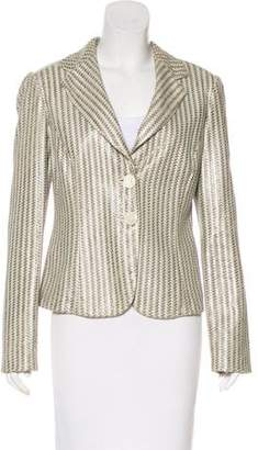 Giorgio Armani Woven Leather Jacket