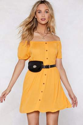 Nasty Gal Sleeve of Absence Off-the-Shoulder Dress