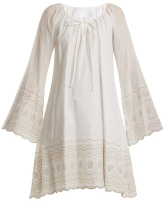 Athena Procopiou - Sunday Morning Embroidered A Line Dress - Womens - Ivory