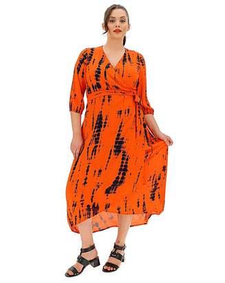 Fashion World Crinkle Tie Dye Wrap Dress