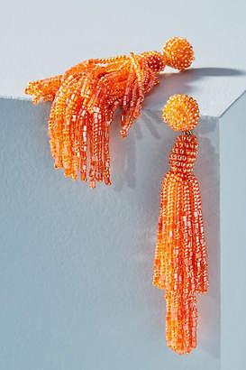 Anthropologie Rachel Beaded Tassel Earrings