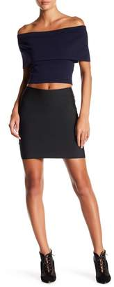 Wow Couture Solid Bodycon Mini Skirt