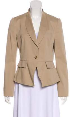 Dolce & Gabbana Peak-Lapel Long Sleeve Jacket Tan Peak-Lapel Long Sleeve Jacket