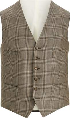 Ralph Lauren Glen Plaid Linen Vest