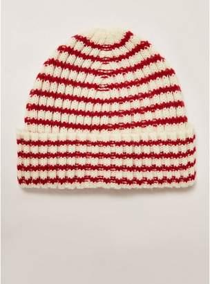 Topman Mens Multi Red and White Stripe Fisherman Beanie