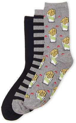 Hot Sox Two-Pack Fries & Solid Socks