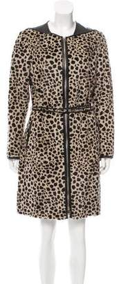 3.1 Phillip Lim Leather-Accented Fur Coat