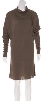 Rick Owens Lilies Jersey Cowl Neck Dress