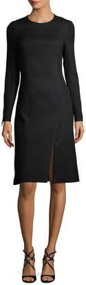 Versace Zip-Accented Sheath Dress