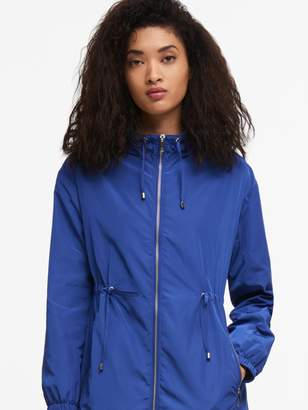 DKNY Hooded Jacket With Waist Tie
