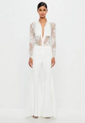 Missguided White Super Flare Pants