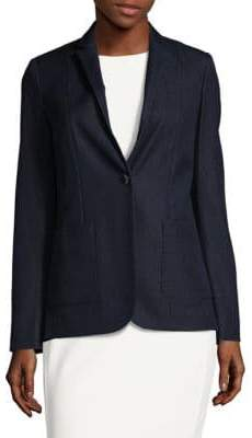 Elie Tahari Reisling One-Button Blazer