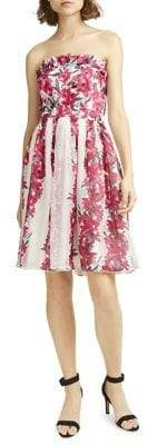 French Connection Edith Vintage Floral-Print Fit--Flare Dress