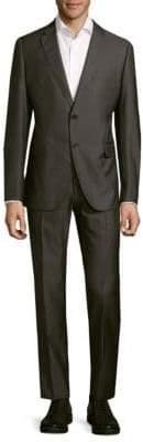 Armani Collezioni Slim Fit Textured Virgin Wool-Blend Suit