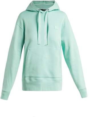 Acne Studios Ferris Face Cotton Hooded Sweatshirt - Womens - Light Green