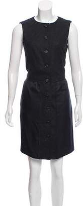 Proenza Schouler Wool Button-Up Mini Dress w/ Tags