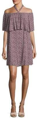 Rebecca Minkoff Havasu Rose-Printed Halter Mini Dress