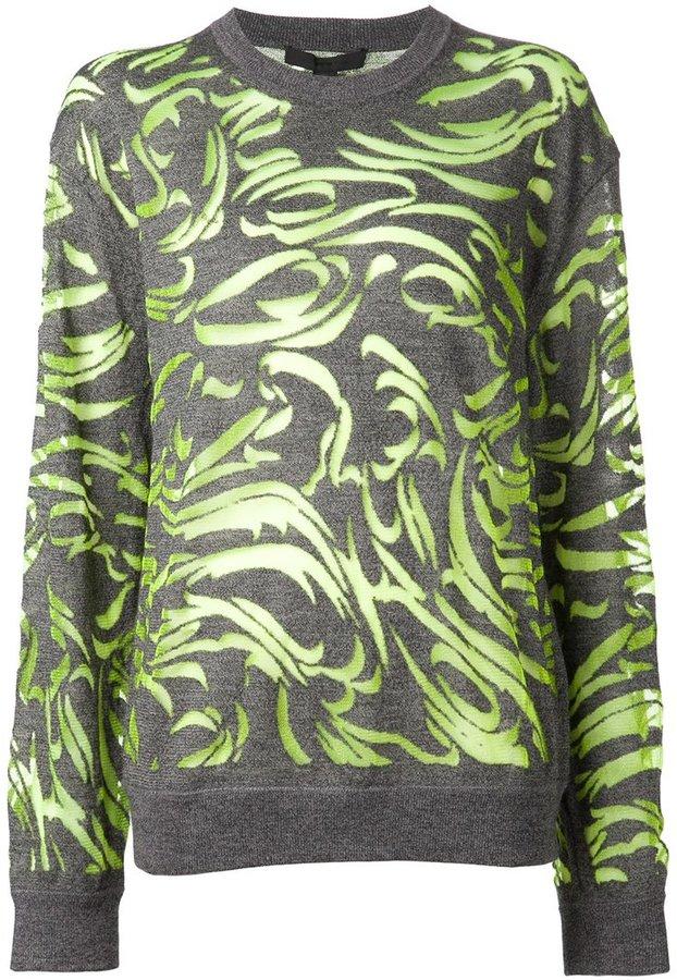 Alexander WangAlexander Wang paisley burnout pullover sweater