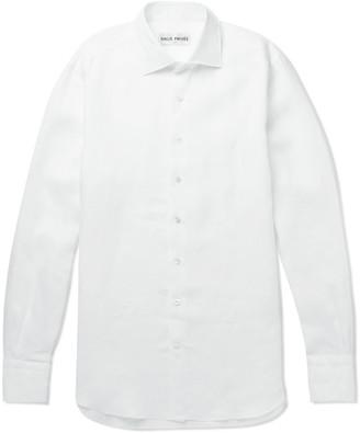Privee SALLE Mart Slub Linen Shirt