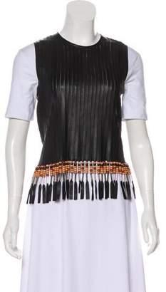 Louis Vuitton 2016 Leather Fringe-Trimmed Vest