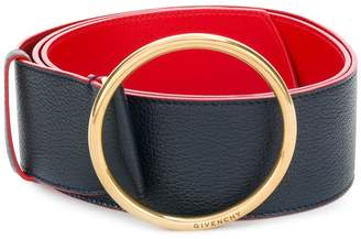 Givenchy circular buckle wide belt