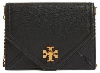 Tory Burch Kira Leather Envelope Clutch - Black $395 thestylecure.com