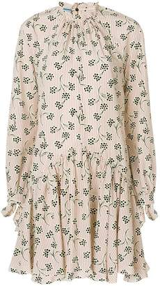 Prada Printed crepe de chine dress