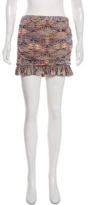 IRO Silk Printed Mini Skirt