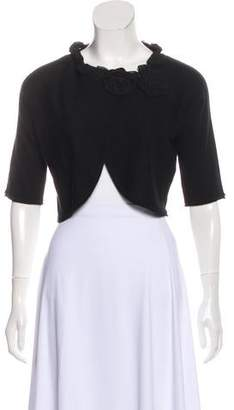 Magaschoni Cropped Scoop Neck Cardigan