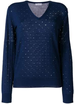 7f144b4330 Sonia Rykiel elbow patch embroidered cutout detailed sweater