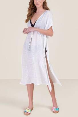 127938089b francesca's Erica Lurex Swimsuit Cover-Up - White