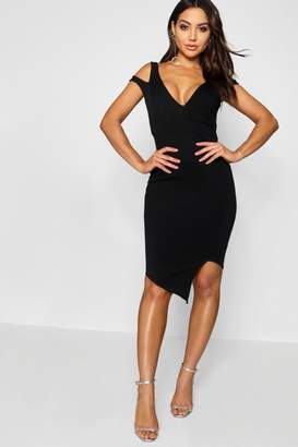 boohoo Cut Out Asymmetric Bodycon Dress