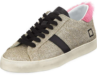 D.A.T.E Hill Low-Top Glitter Sneakers