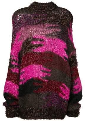 Saint Laurent Camouflage Jaquard Knit Jumper
