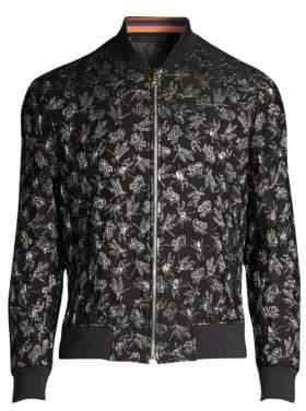 Paul Smith Lurex Bug Embroidery Bomber Jacket