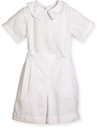 Isabel Garreton Boys' Sebastian Two-Piece Cotton Ring Bearer Set, White, Size 2-4